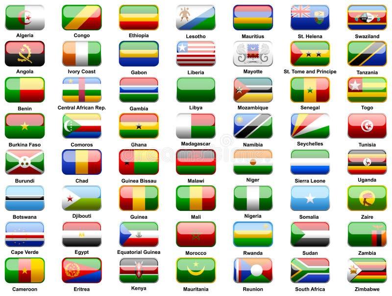 De vlaggen van Afrikanen van landen
