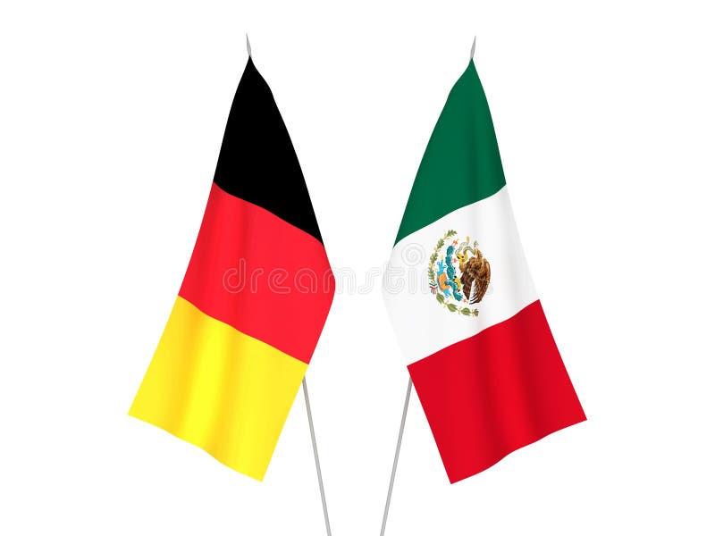 De vlaggen van België en van Mexico royalty-vrije illustratie