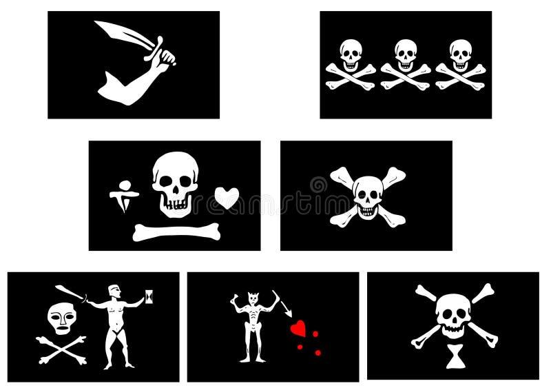 De Vlaggen van de piraat stock illustratie