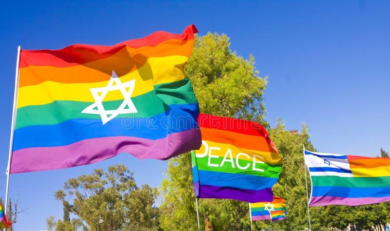 De Vlaggen van de regenboog royalty-vrije stock foto