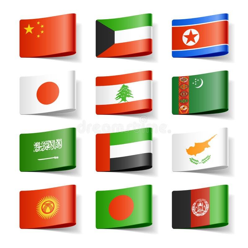 De vlaggen van de wereld. Azië.