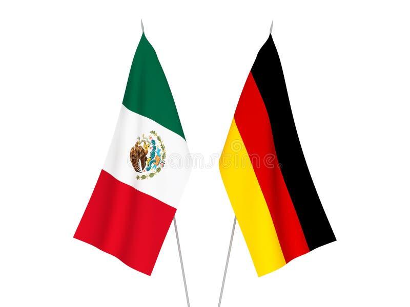 De vlaggen van Duitsland en van Mexico vector illustratie