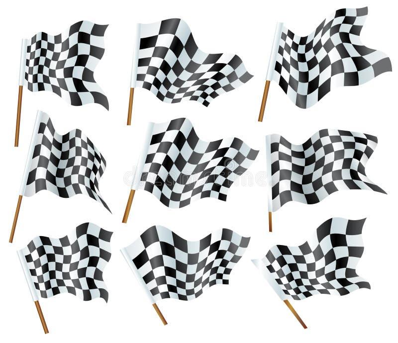 De vlaggen van Formule 1 royalty-vrije illustratie