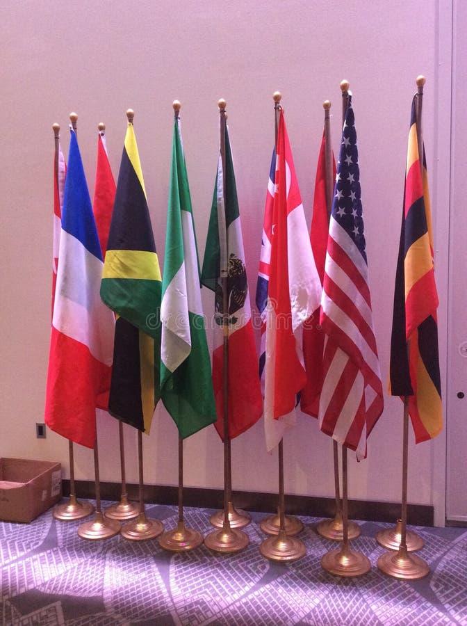 De vlaggen van het land royalty-vrije stock fotografie