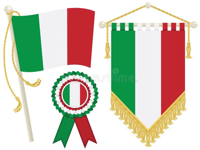 De vlaggen van Italië stock illustratie