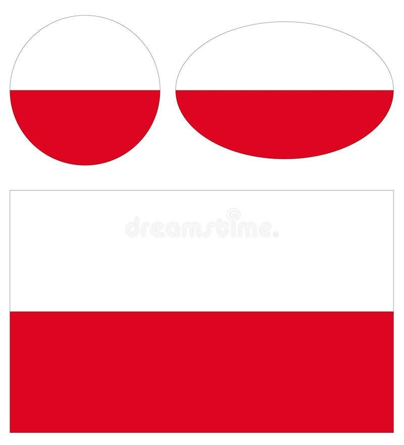 De vlaggen van Polen stock illustratie