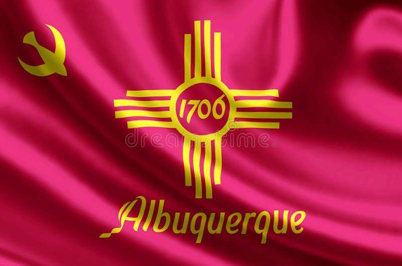 De vlagillustratie van Albuquerque New Mexico stock illustratie