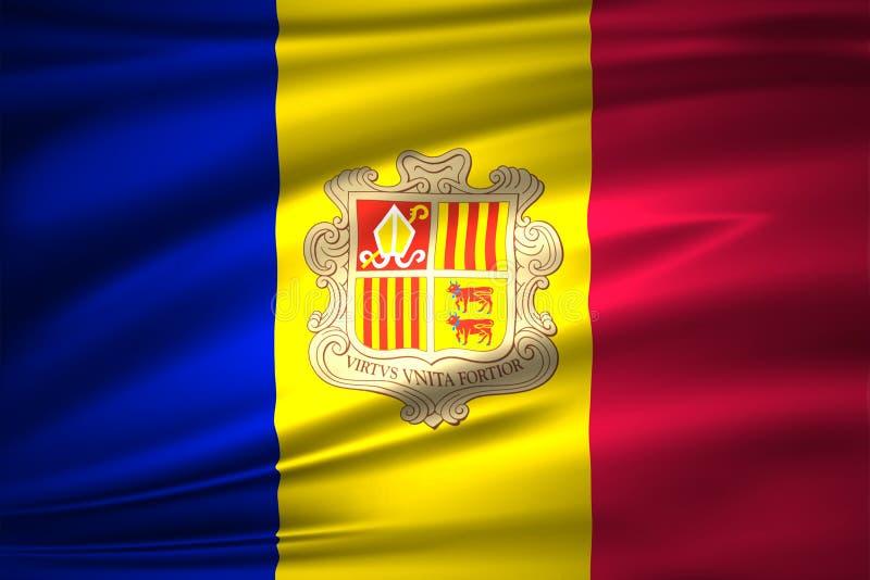 De vlagillustratie van Andorra royalty-vrije illustratie