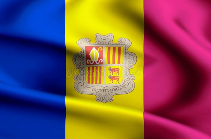 De vlagillustratie van Andorra stock illustratie