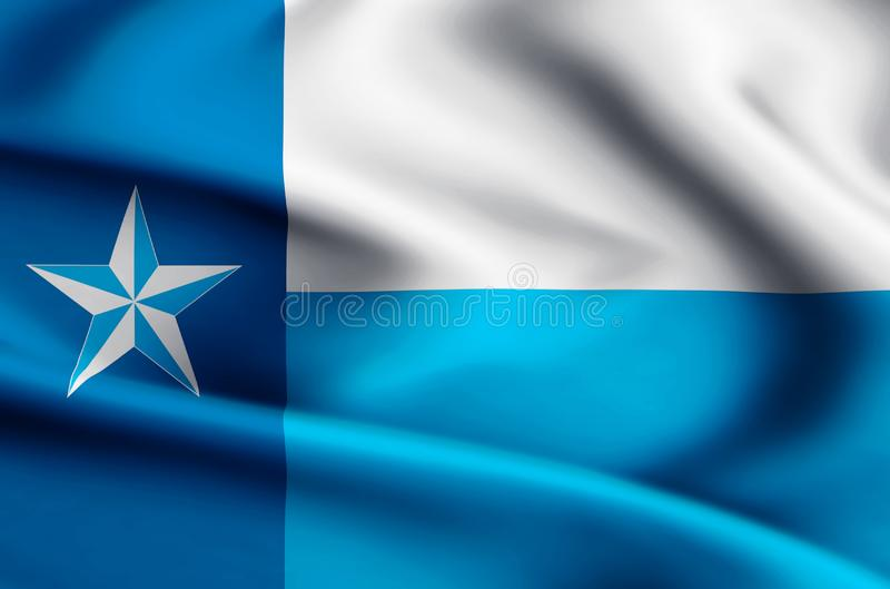 De vlagillustratie van Dallas vector illustratie