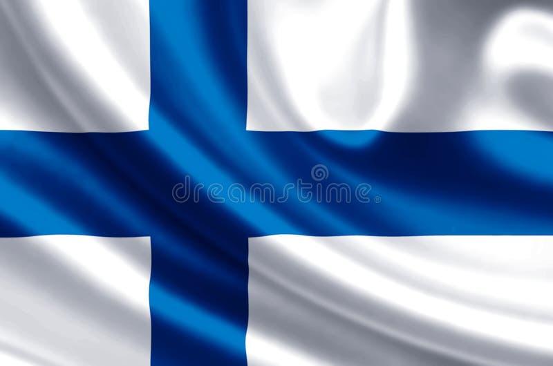De vlagillustratie van Finland vector illustratie