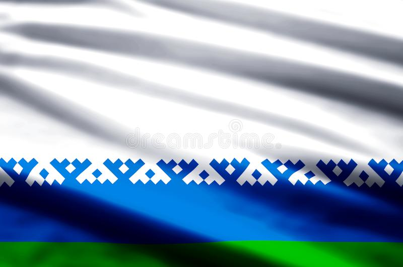De vlagillustratie van het Nenets Autonome District vector illustratie