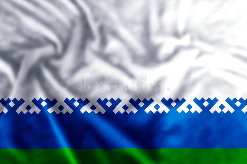De vlagillustratie van het Nenets Autonome District royalty-vrije illustratie