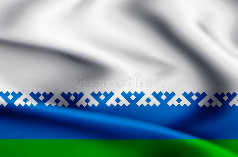 De vlagillustratie van het Nenets Autonome District stock illustratie