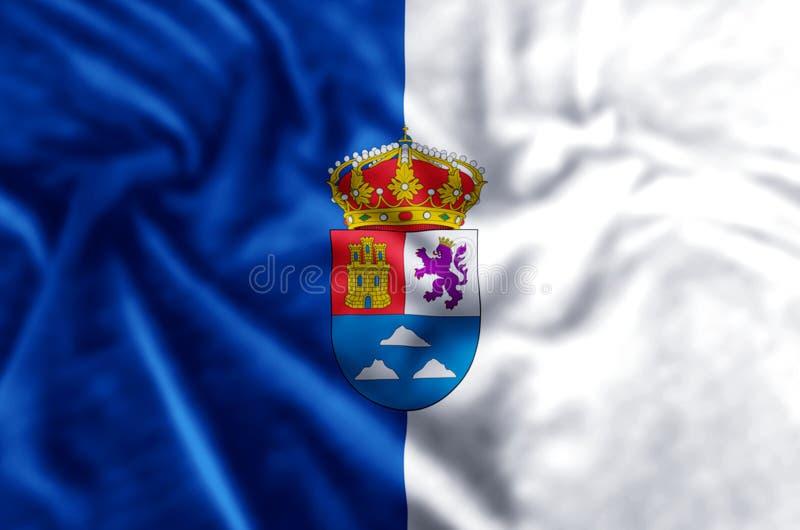 De vlagillustratie van Las Palmas royalty-vrije illustratie