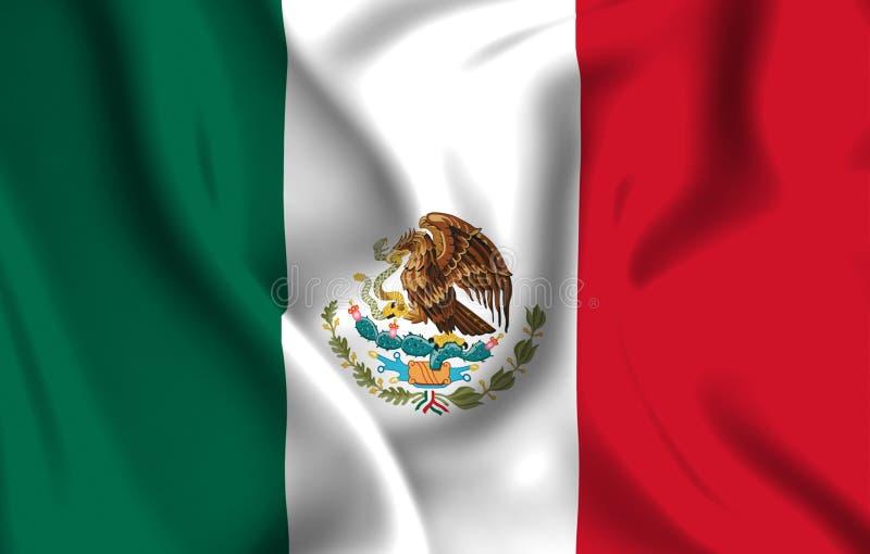 De vlagillustratie van Mexico royalty-vrije illustratie