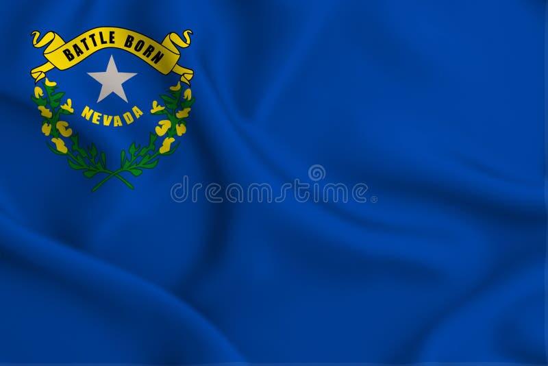 De vlagillustratie van Nevada stock illustratie