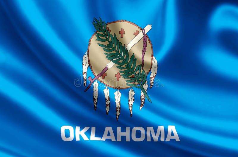 De vlagillustratie van Oklahoma stock illustratie