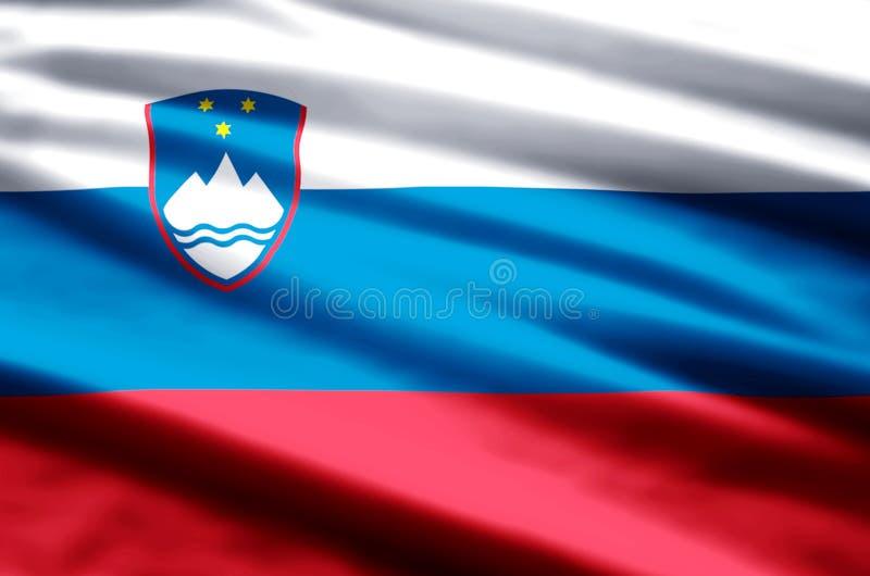 De vlagillustratie van Slovenië vector illustratie
