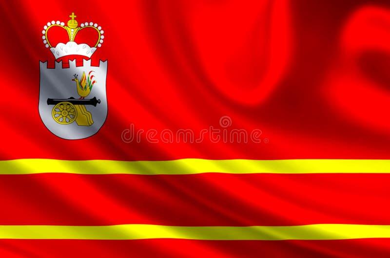 De vlagillustratie van Smolensk vector illustratie