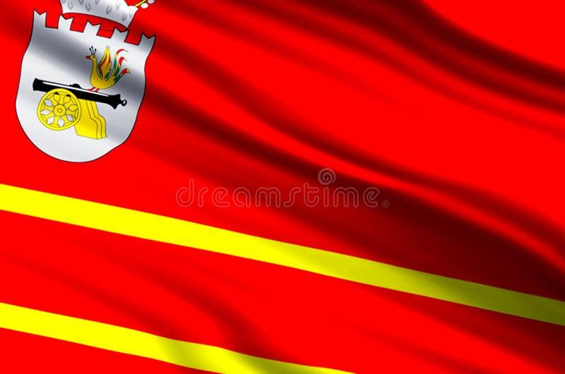 De vlagillustratie van Smolensk royalty-vrije illustratie