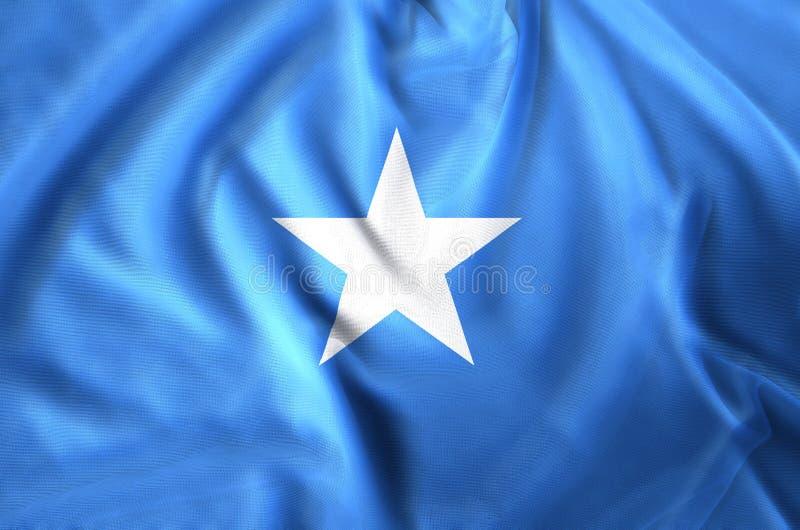 De Vlagillustratie van Somalië stock illustratie