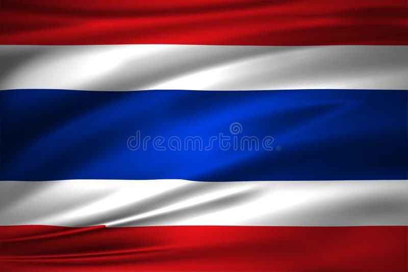 De vlagillustratie van Thailand royalty-vrije illustratie