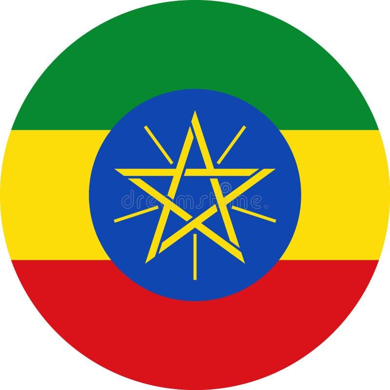 De Vlagillustratie vectoreps van Ethiopië royalty-vrije illustratie