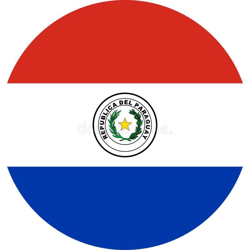De Vlagillustratie vectoreps van Paraguay royalty-vrije illustratie