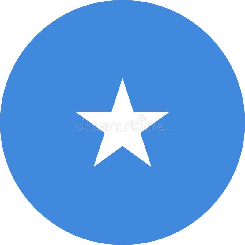 De Vlagillustratie vectoreps van Somalië stock illustratie