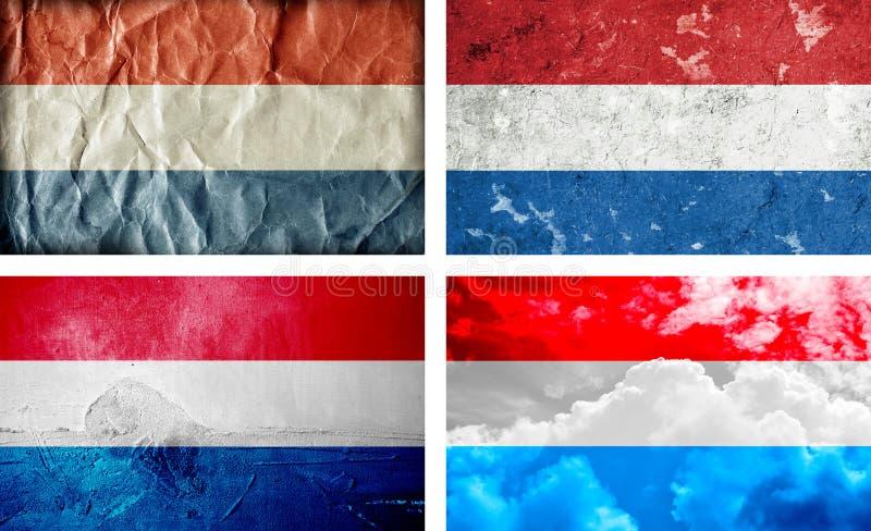 De vlaginzameling van Holland grunge royalty-vrije stock foto