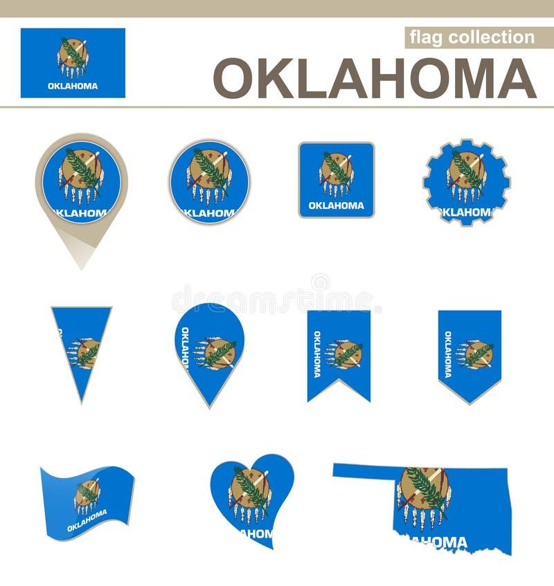 De Vlaginzameling van Oklahoma stock illustratie