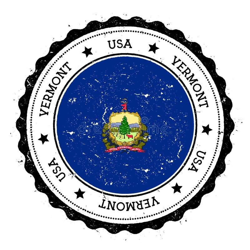 De vlagkenteken van Vermont vector illustratie