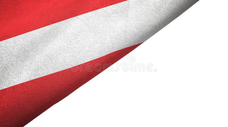 De vlaglinkerkant van Oostenrijk met lege exemplaarruimte stock illustratie