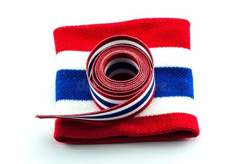 Download De Vlaglint & Manchet Van Thailand Stock Afbeelding - Afbeelding bestaande uit blauw, etiket: 39103041