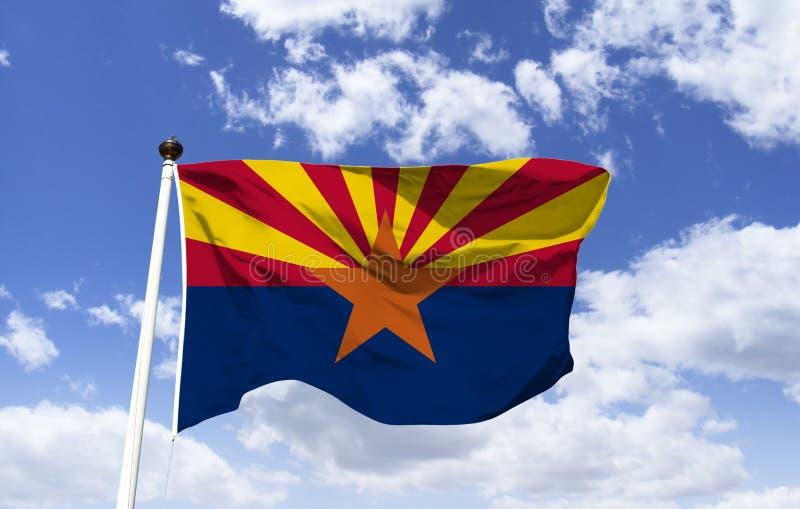 De vlagmodel van Arizona in de wind royalty-vrije illustratie