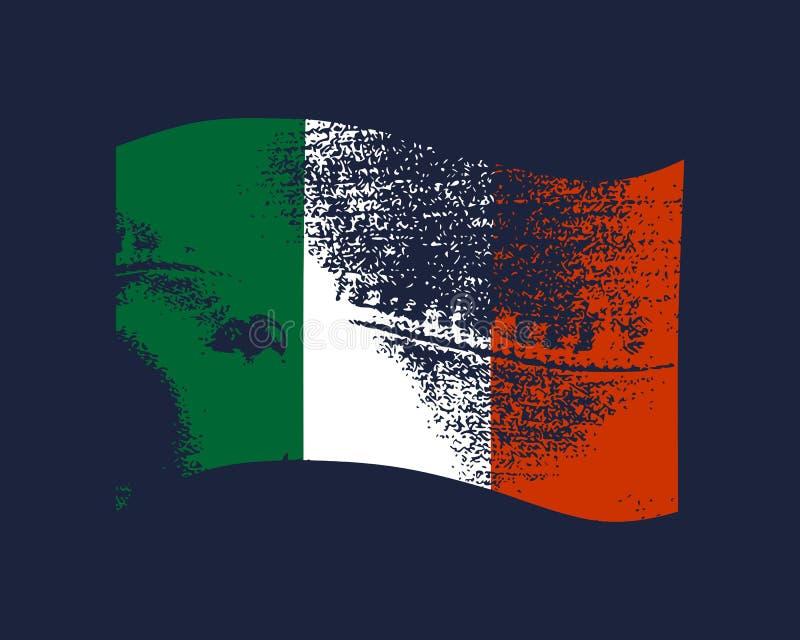 De vlagontwerp van Italië vector illustratie