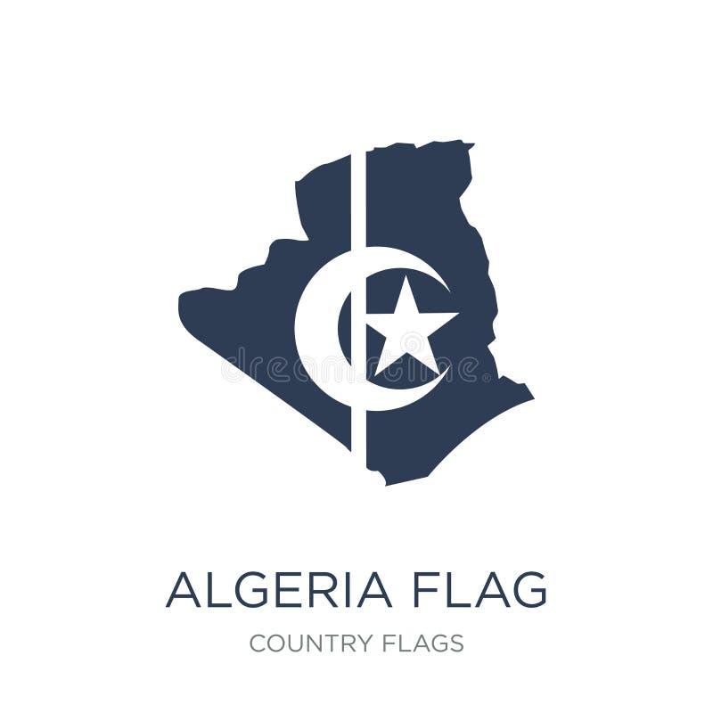 De vlagpictogram van Algerije  royalty-vrije illustratie