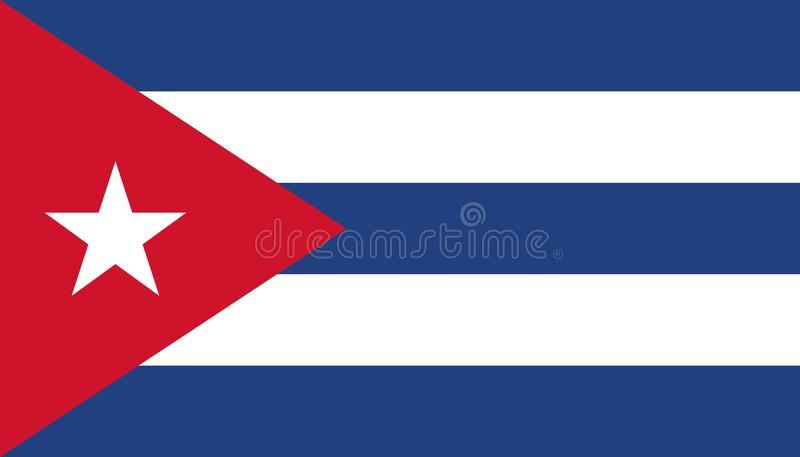 De vlagpictogram van Cuba in vlakke stijl Cubaanse nationale teken vectorillustratie Politiek bedrijfsconcept vector illustratie