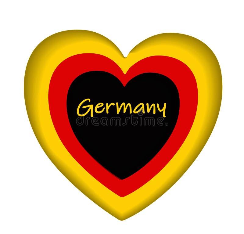 De vlagpictogram van Duitsland, pictogram of knoop Duitse nationale symbool Vectorillustratie vector illustratie
