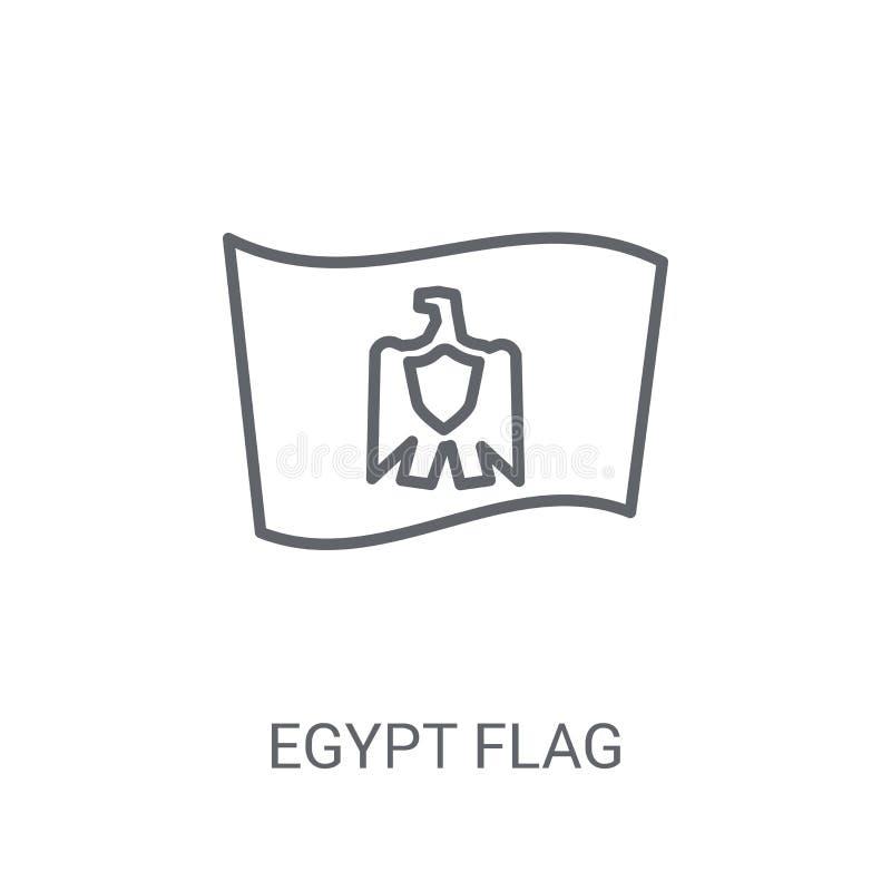 De vlagpictogram van Egypte Het in concept van het de vlagembleem van Egypte op witte backgro stock illustratie