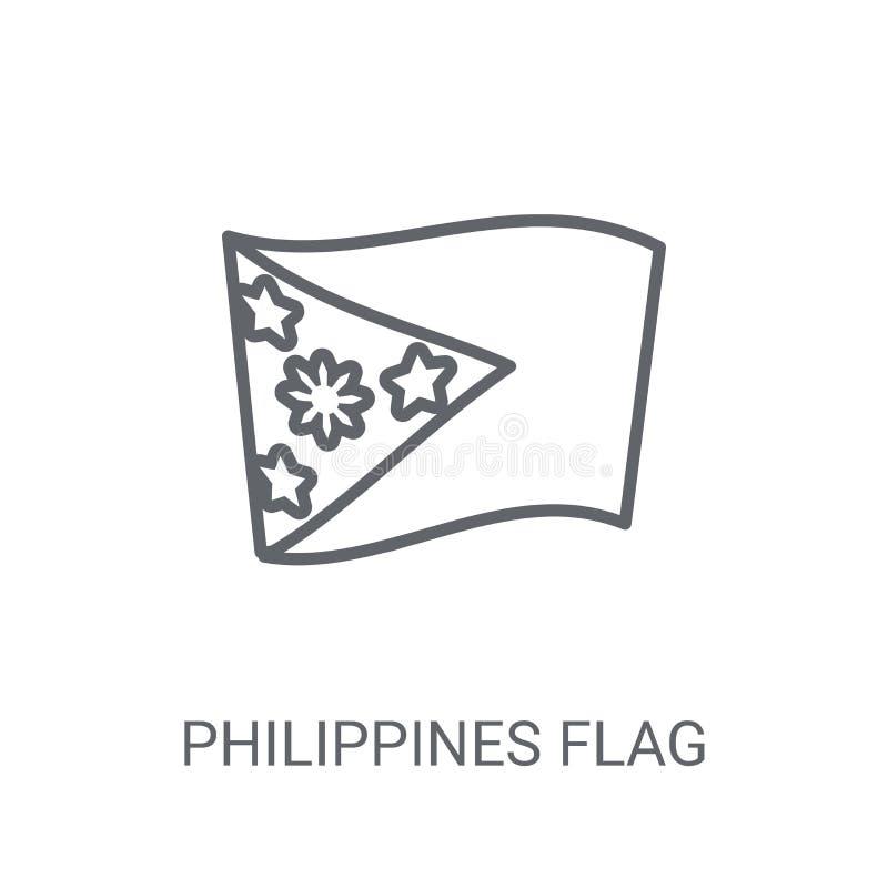 De vlagpictogram van Filippijnen Het in concept van het de vlagembleem van Filippijnen op w royalty-vrije illustratie