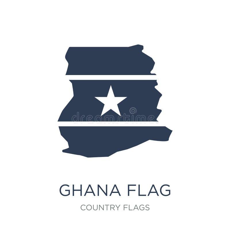 De vlagpictogram van Ghana  royalty-vrije illustratie