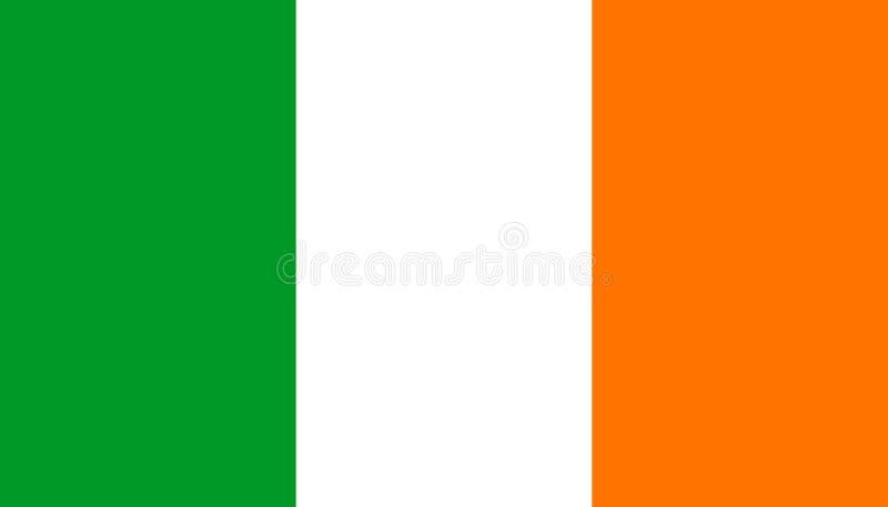 De vlagpictogram van Ierland in vlakke stijl Nationale teken vectorillustratie Politiek bedrijfsconcept stock illustratie
