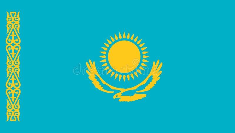 De vlagpictogram van Kazachstan vector illustratie