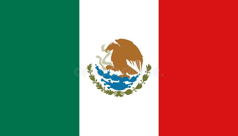 De vlagpictogram van Mexico in vlakke stijl Mexicaanse nationale teken vectorillustratie Politiek bedrijfsconcept vector illustratie