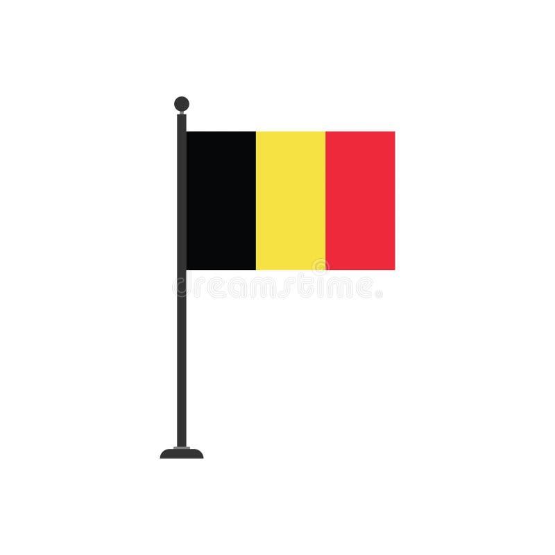 De vlagpictogram 3 van voorraad vectorbelgië royalty-vrije illustratie