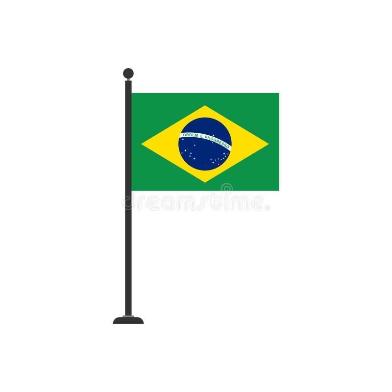 De vlagpictogram 3 van voorraad vectorbrazilië stock illustratie
