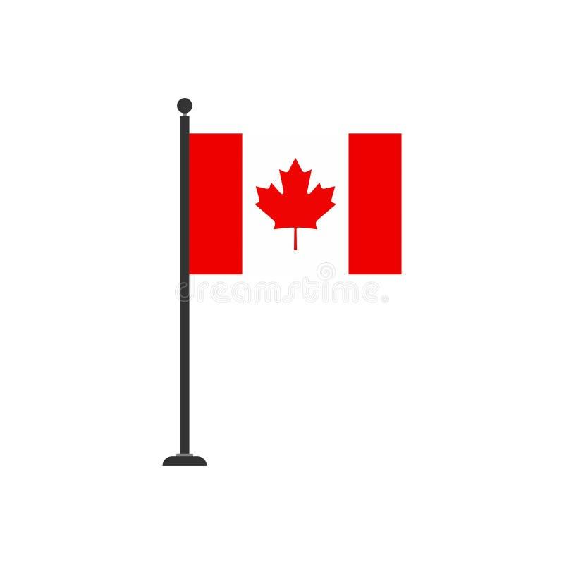 De vlagpictogram 3 van voorraad vectorcanada vector illustratie