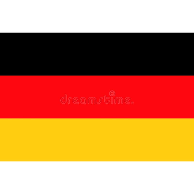 De vlagpictogram 1 van voorraad vectorduitsland vector illustratie